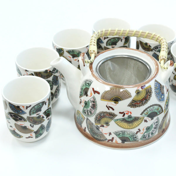 Herbal Teapot Gift Set China Fans