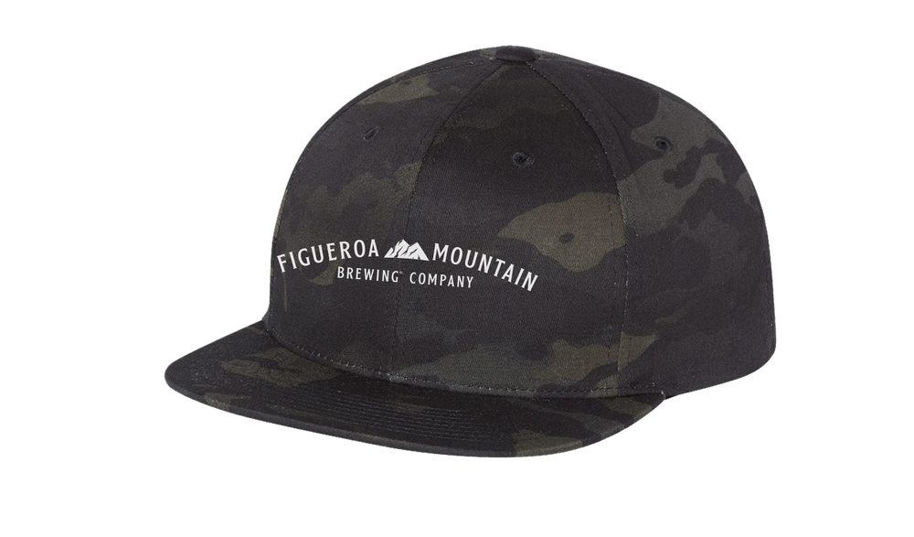 Load image into Gallery viewer, Figueroa Mountain - Arch Snapback Hat - Black Camo