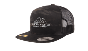 Figueroa Mountain - Mountain Trucker Hat - Black Camo