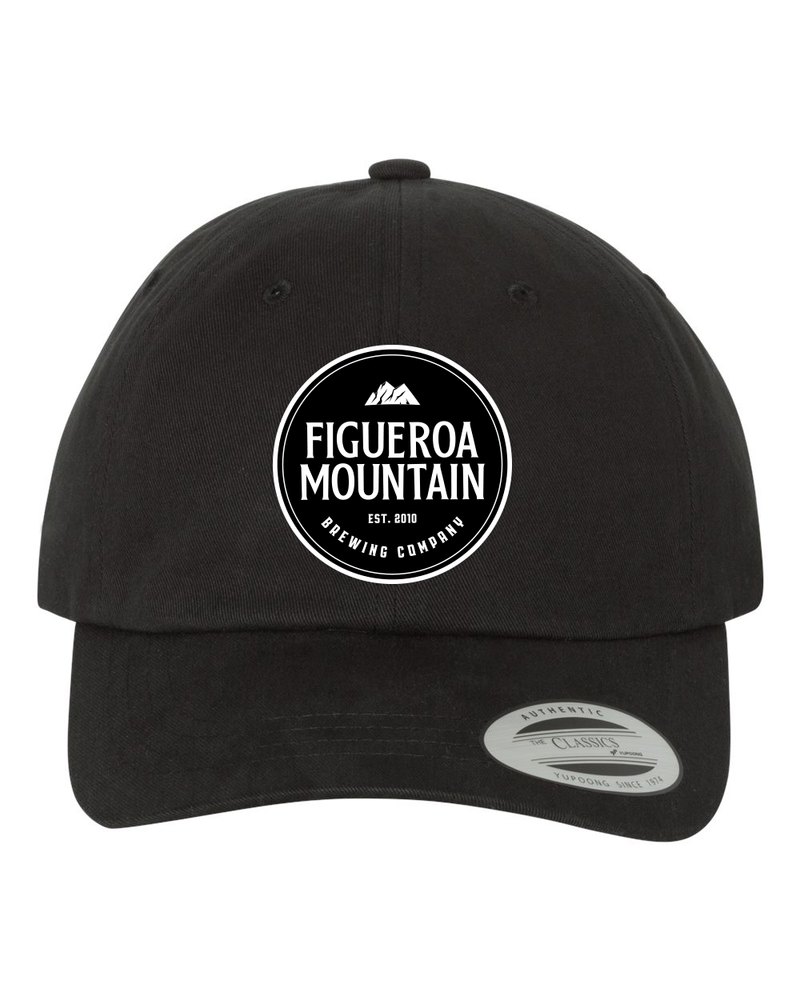 Figueroa Mountain - Round Patch Dad Hat - Black