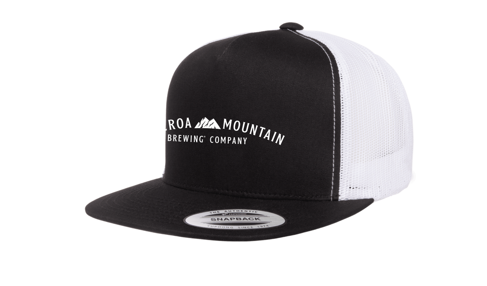 Figueroa Mountain - Arch Trucker Hat - Black/ White