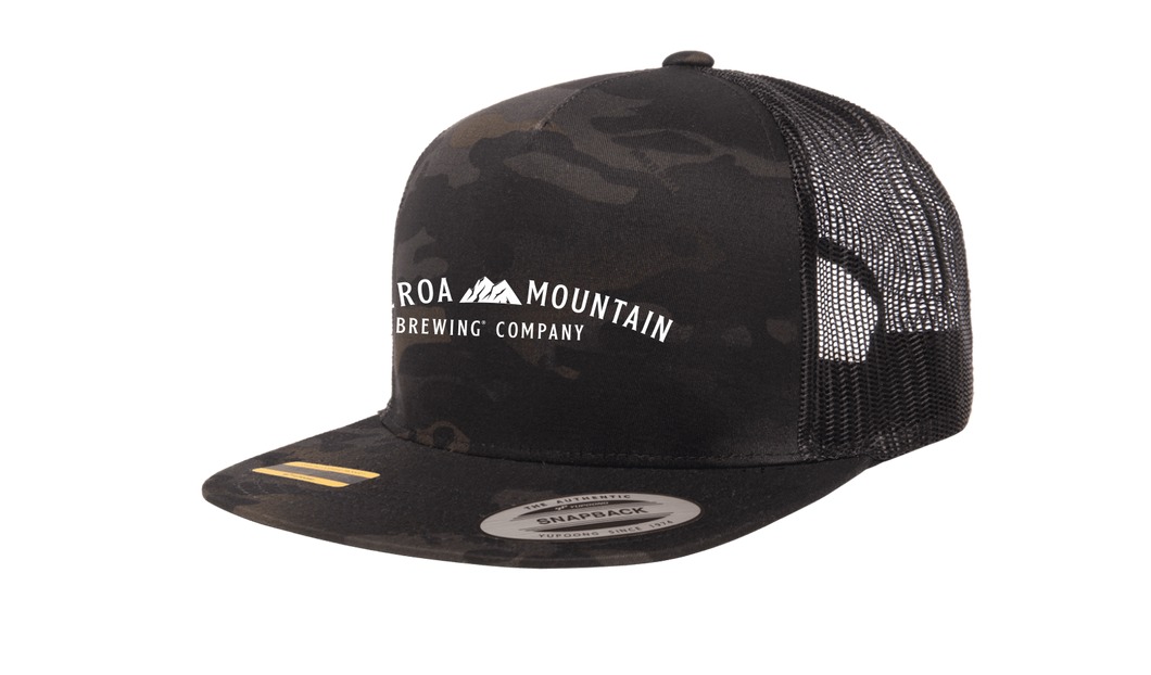 Figueroa Mountain - Arch Trucker Hat - Black Camo
