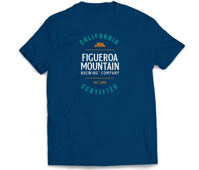 Figueroa Mountain - Cali Certified Tee - Cool Blue