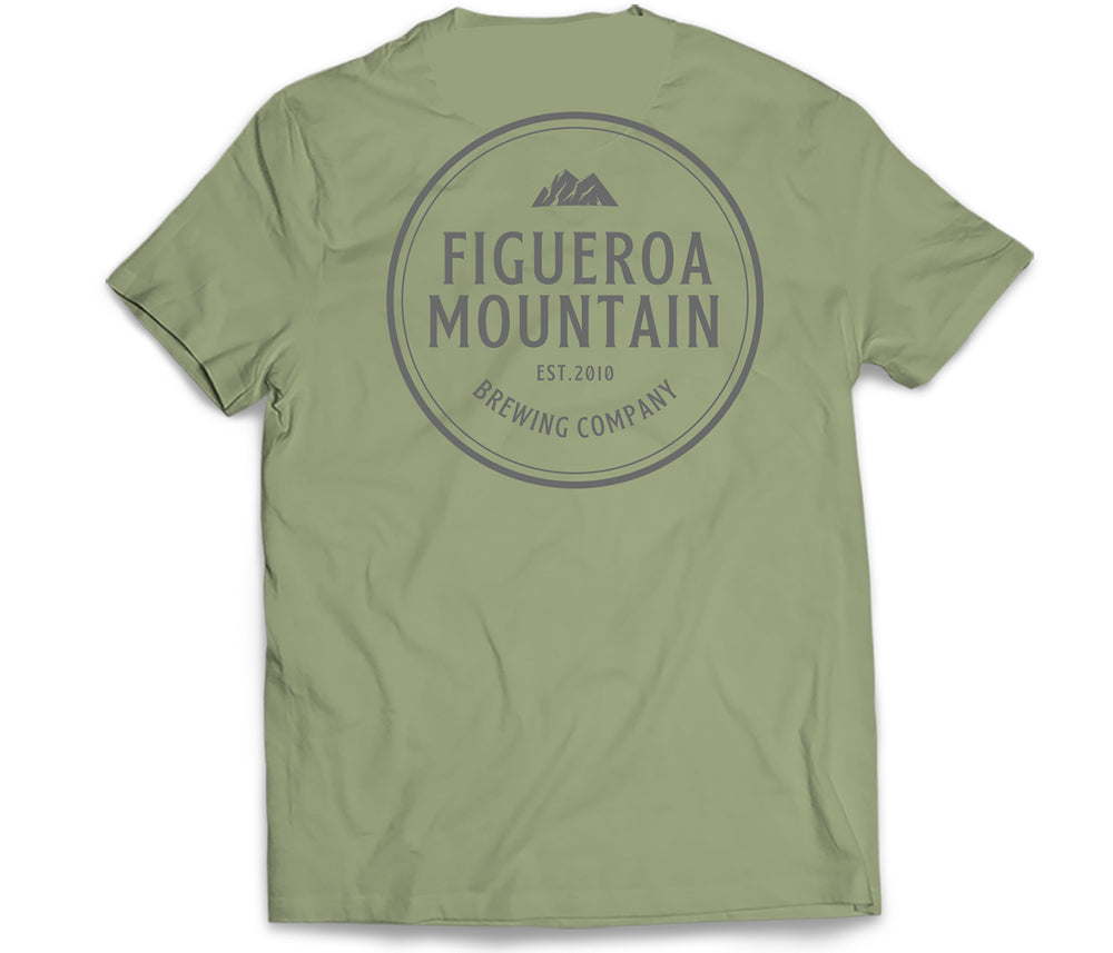 Figueroa Mountain - Circle Short Sleeve Tee - Olive