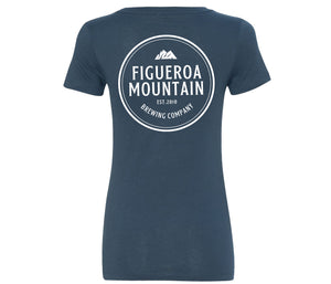Figueroa Mountain - Circle Short Sleeve Women's Tee - Indigo