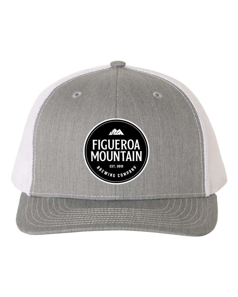 Figueroa Mountain - Round Patch Low Pro Trucker - Heather/ White