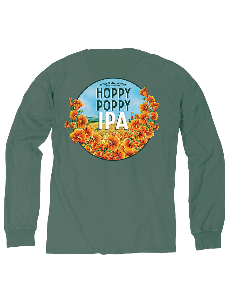 Figueroa Mountain - Hoppy Poppy Long Sleeve  - Cypress Green