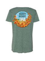 Figueroa Mountain - Hoppy Poppy Scoop Tee - Royal Pine
