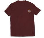 Figueroa Mountain - Hex Short Sleeve Tee - Maroon