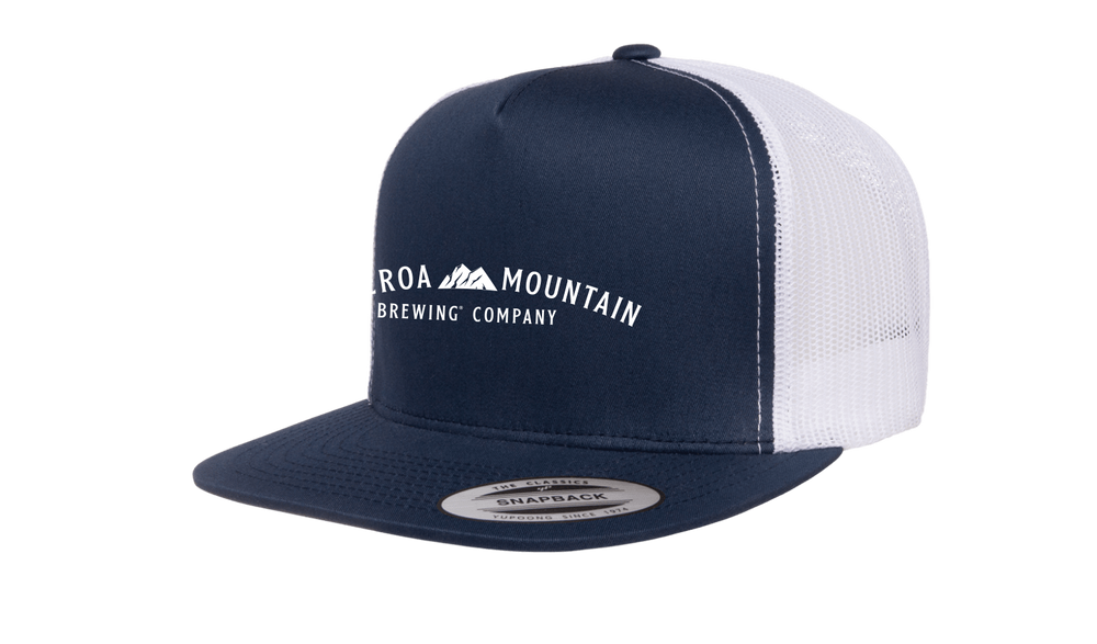 Figueroa Mountain - Arch Trucker Hat - Navy/ White