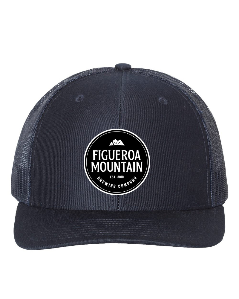 Figueroa Mountain - Round Patch Low Pro Trucker - Navy