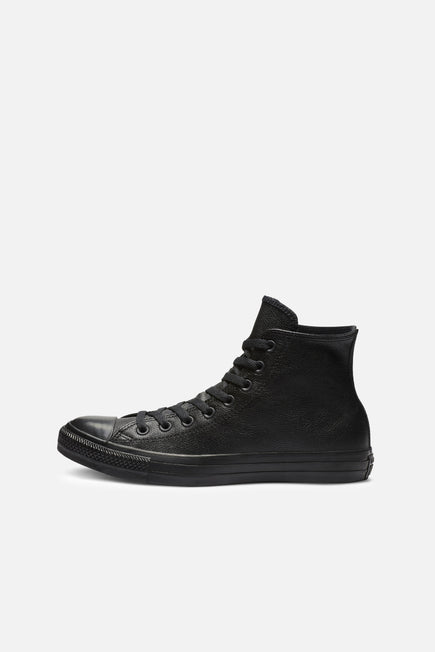 Chuck Taylor All Star Leather by Converse in Black Mono 2
