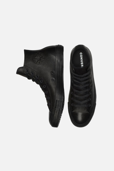 Chuck Taylor All Star Leather by Converse in Black Mono 3