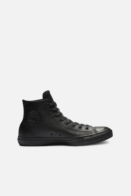 Chuck Taylor All Star Leather by Converse in Black Mono 1