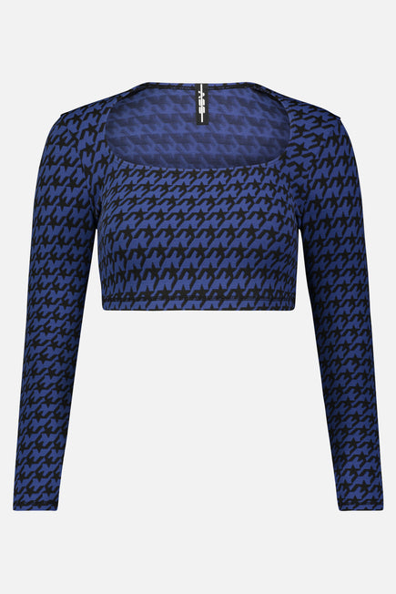 Square Neck Crop Top by Adam Selman Sport in Royal 6