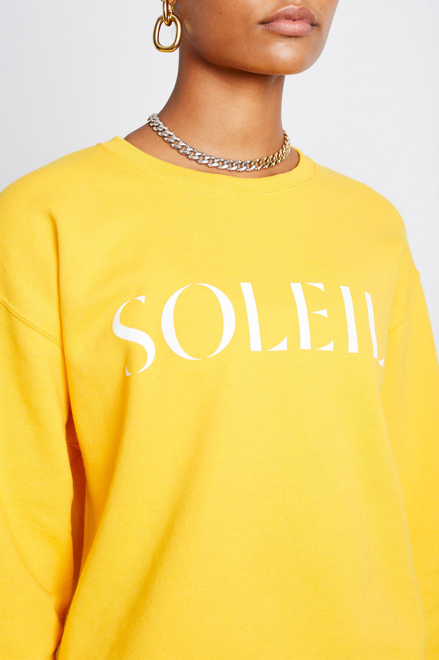 Soleil Crew by Paradised in Gold/white 3