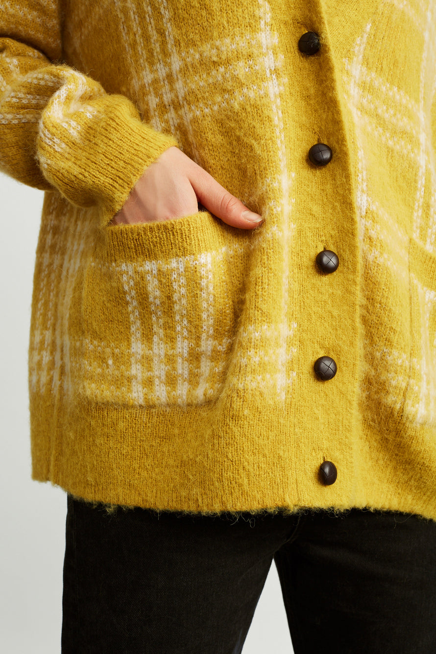 90s Oversized Cardigan by RE/DONE in Margold 3