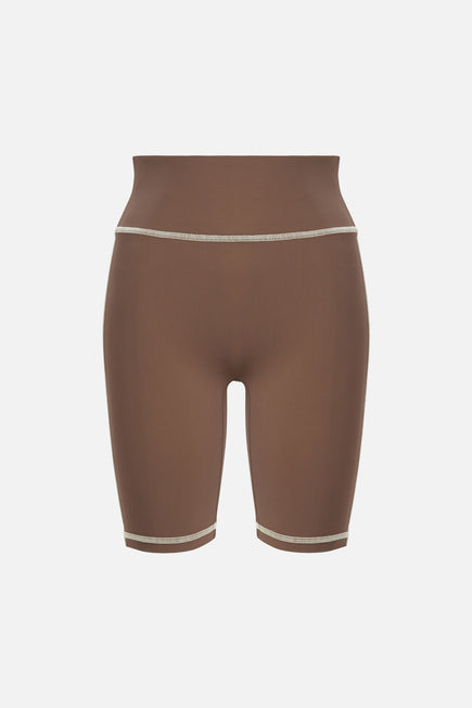 Otis Biker Short by BANDIER x Alix NYC in Taupe/pink Sand 5