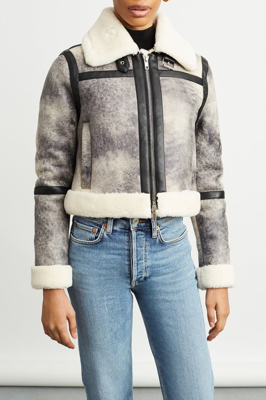 Lorelle Jacket by Stand Studio in Grey/black 1