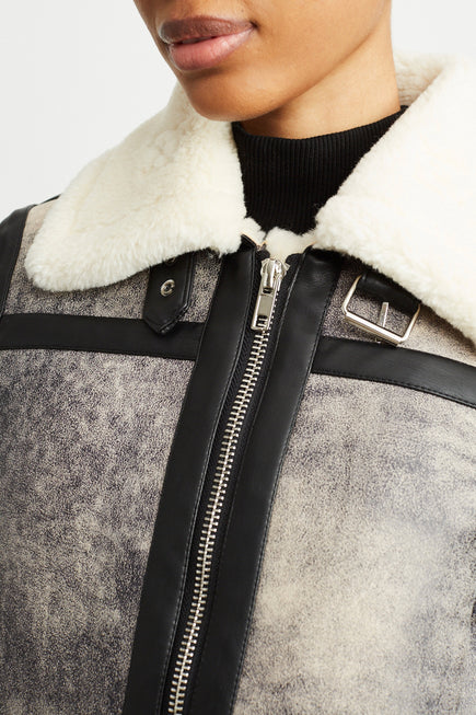 Lorelle Jacket by Stand Studio in Grey/black 3