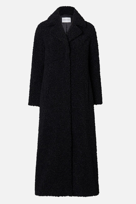 Kylie Coat by Stand Studio in Black 4