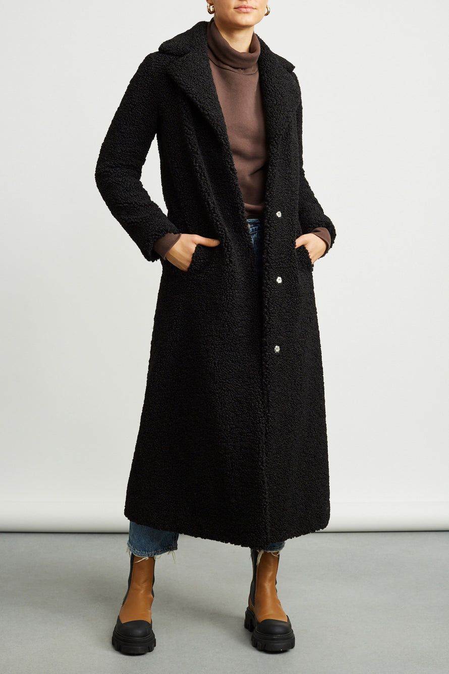 Kylie Coat by Stand Studio in Black 1