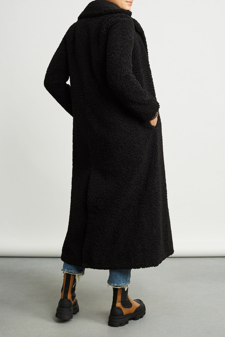 Kylie Coat by Stand Studio in Black 3