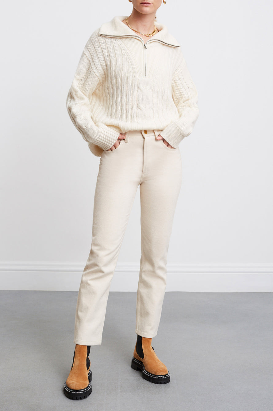 Angela Sweater by Nili Lotan in Ivory 4