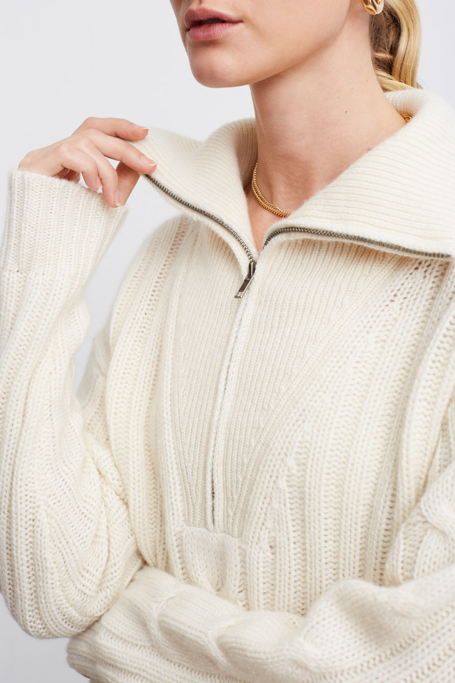 Angela Sweater by Nili Lotan in Ivory 2