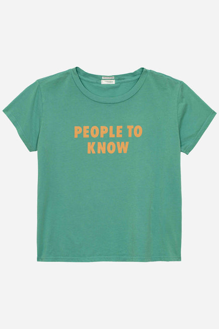 The People to Know Tee by Mother in Lagoon 1