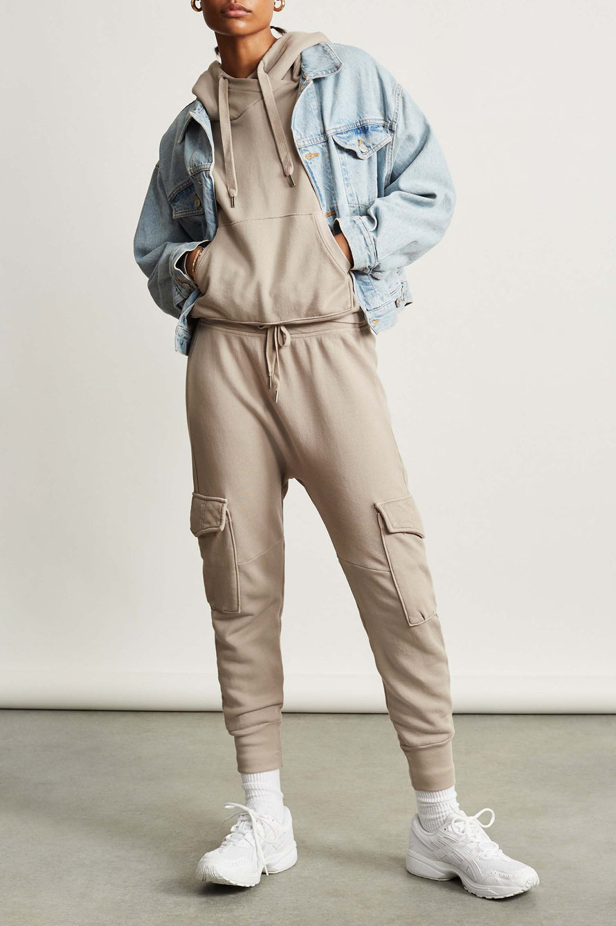Ellie Cargo Sweatpant by NSF in Cement 2