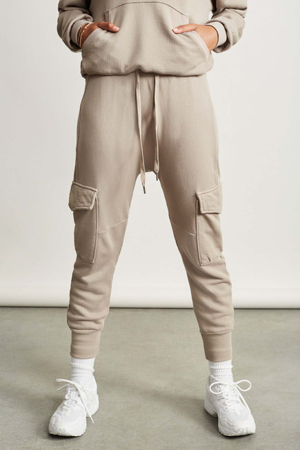 Ellie Cargo Sweatpant by NSF in Cement 5