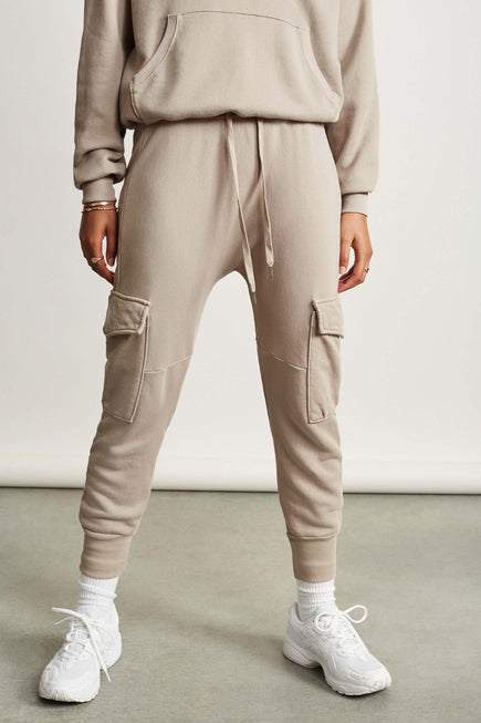 Ellie Cargo Sweatpant by NSF in Cement 1