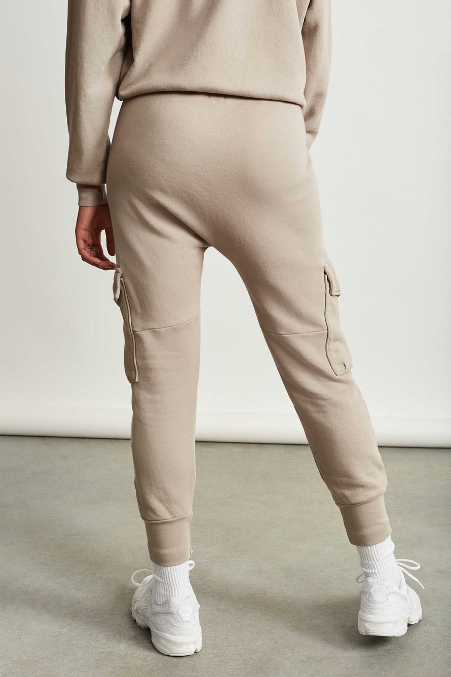 Ellie Cargo Sweatpant by NSF in Cement 4
