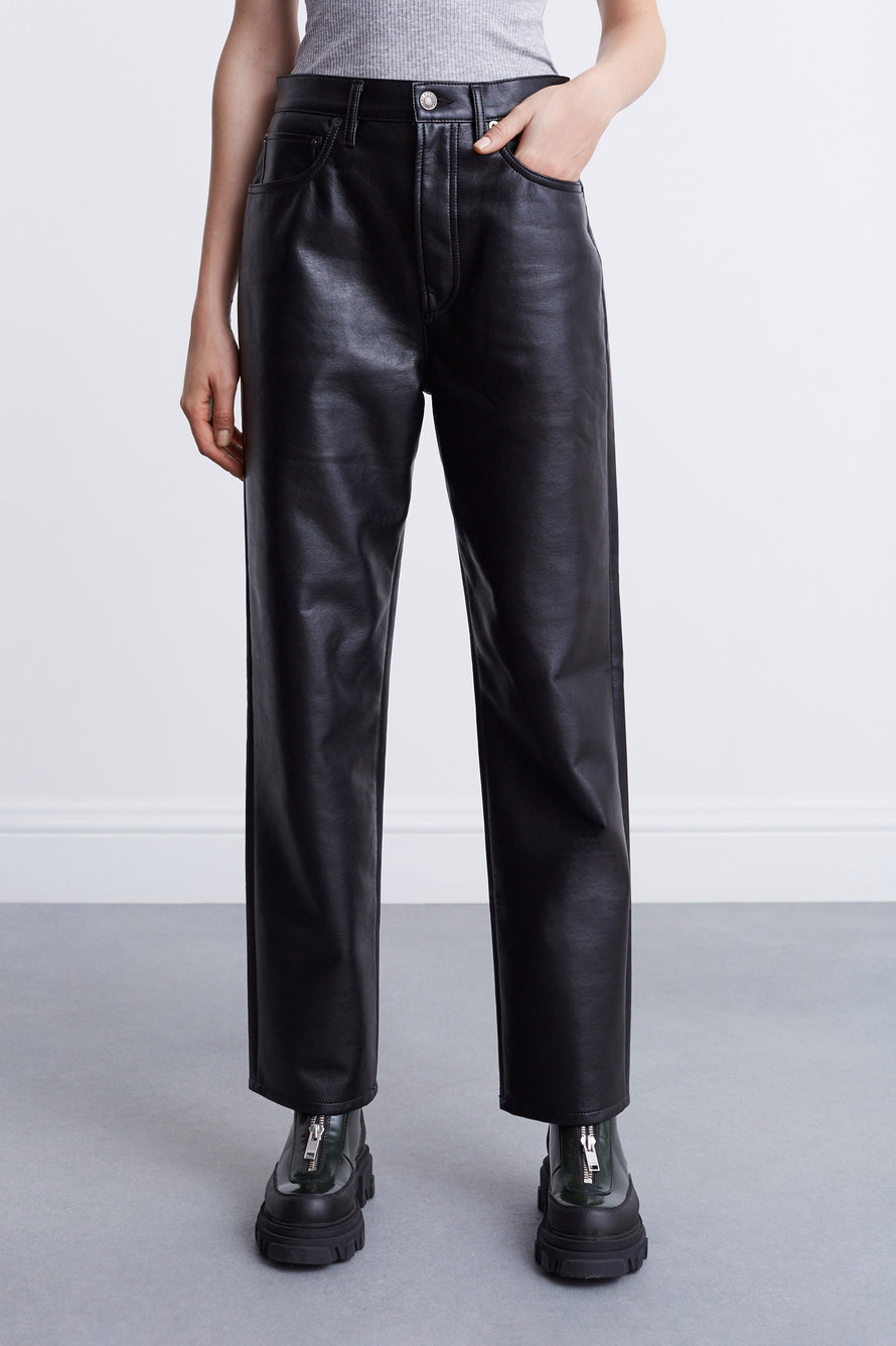 Recycled Leather 90s Pinch Waist by AGOLDE in Detox 1