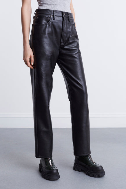 Recycled Leather 90s Pinch Waist by AGOLDE in Detox 4