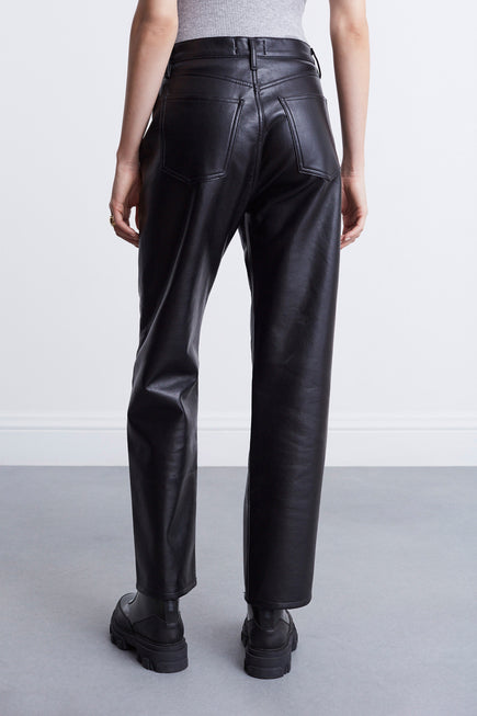 Recycled Leather 90s Pinch Waist by AGOLDE in Detox 5
