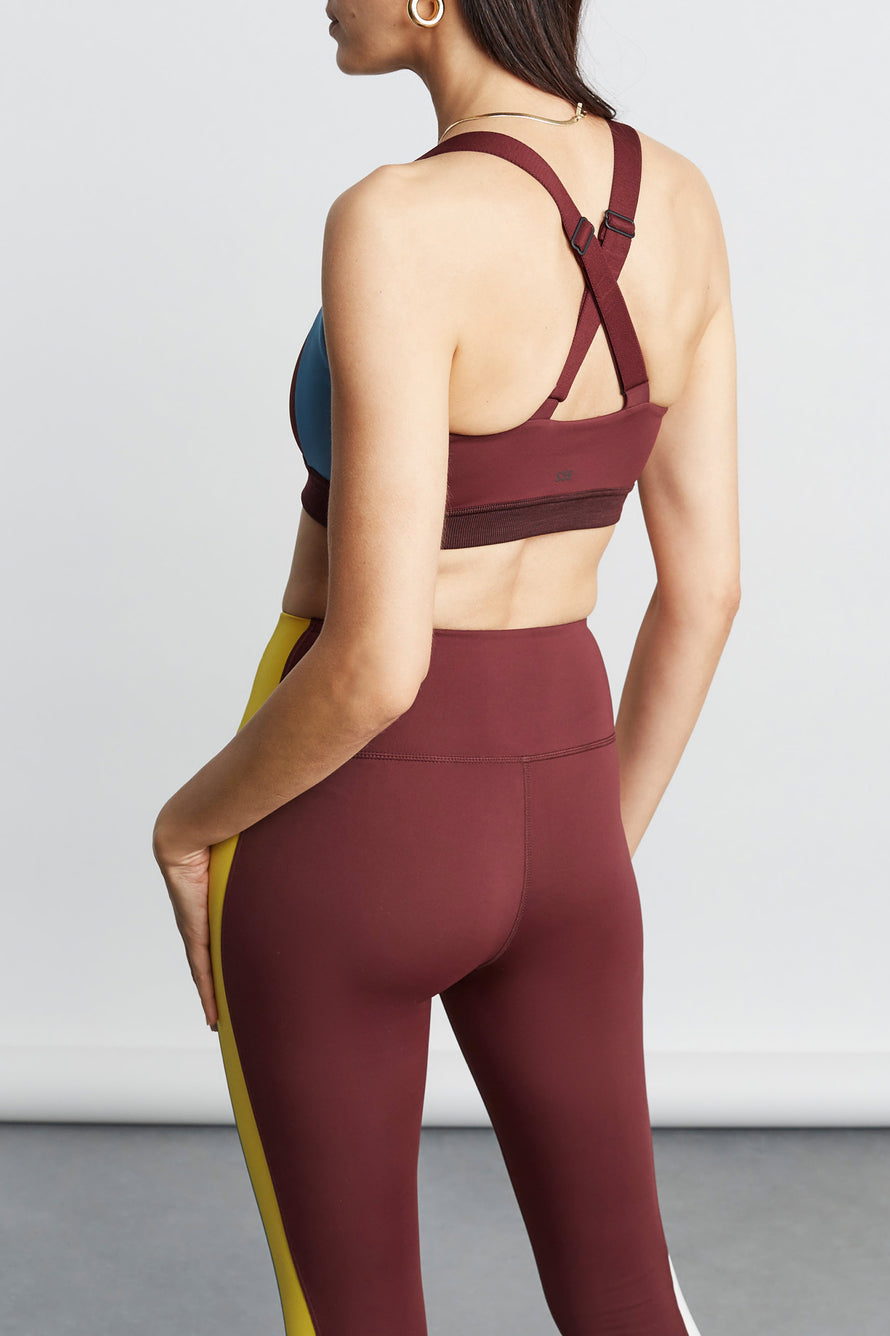 Logan Techflex Bra by Splits59 in Burgundy 4