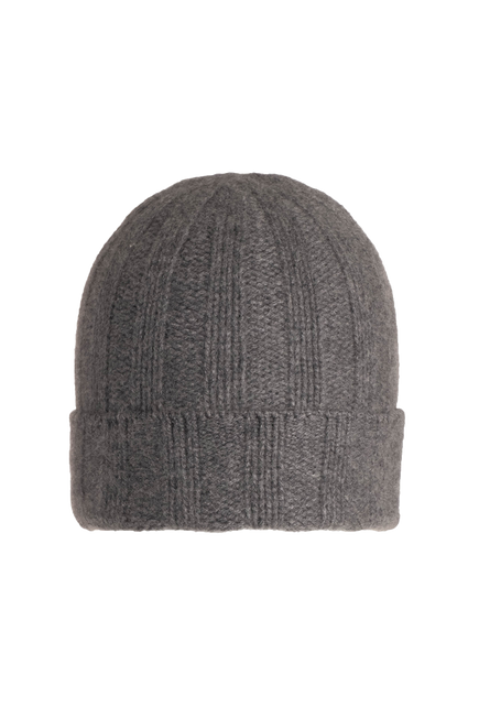 Chunky Ribbed Beanie by Naadam in Granite 1