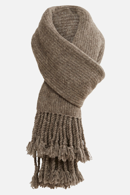 Fringe Scarf by Naadam in Stone Grey 3
