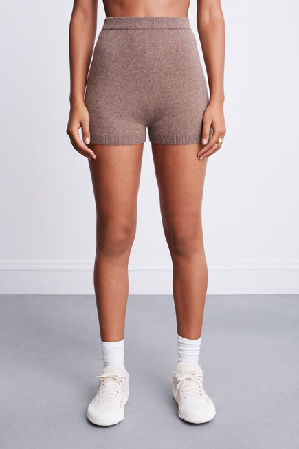 Snug Short by BANDIER x Brodie Cashmere in Natural Brown 1