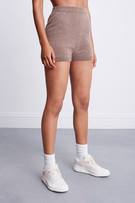 Snug Short by BANDIER x Brodie Cashmere in Natural Brown 5
