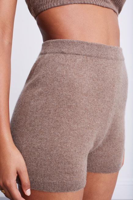 Snug Short by BANDIER x Brodie Cashmere in Natural Brown 3