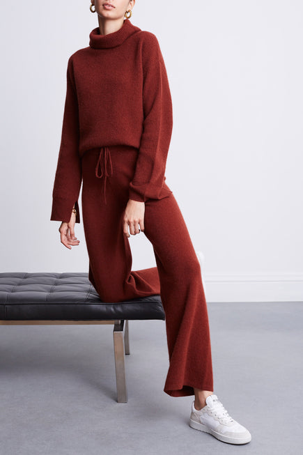 Turtleneck Sweater by BANDIER x Brodie Cashmere in Nutmeg 3