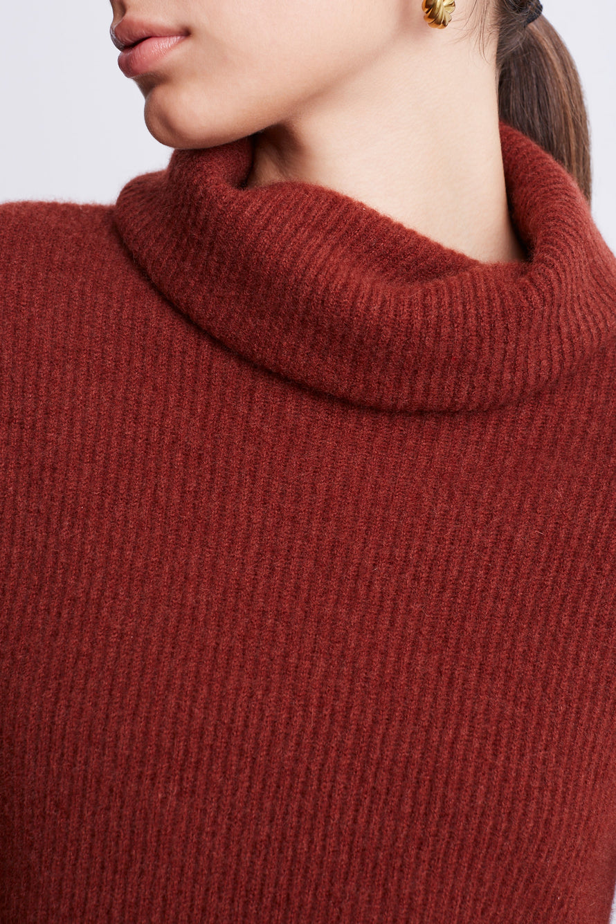 Turtleneck Sweater by BANDIER x Brodie Cashmere in Nutmeg 4