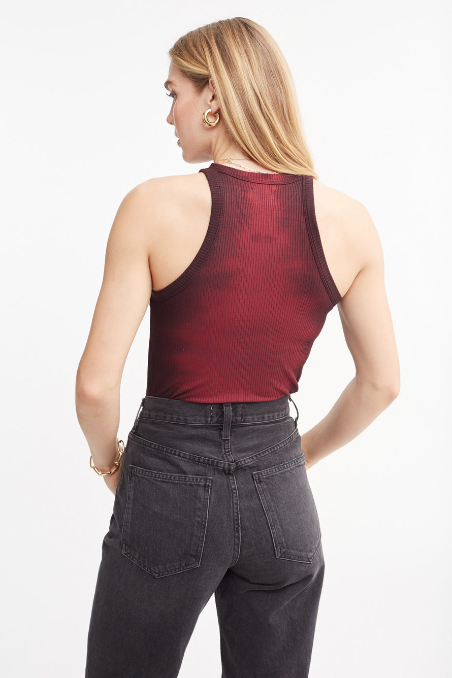 The Rivington Tank by WSLY in Garnet Tie Dye 4
