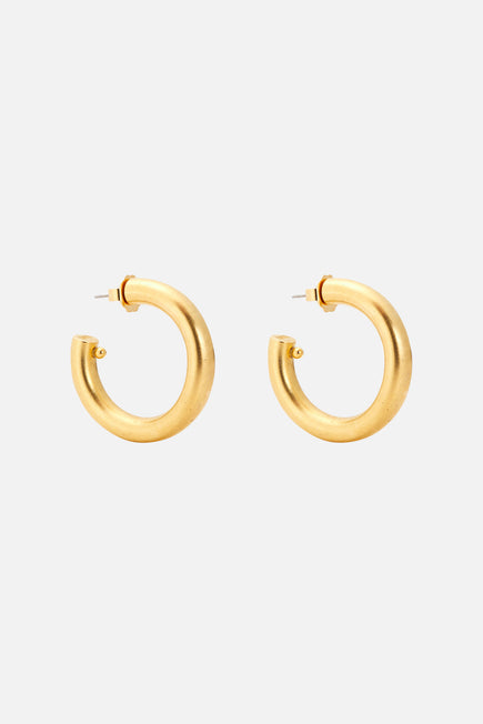 Jumbo Hoops by Brinker & Eliza in Gold 1