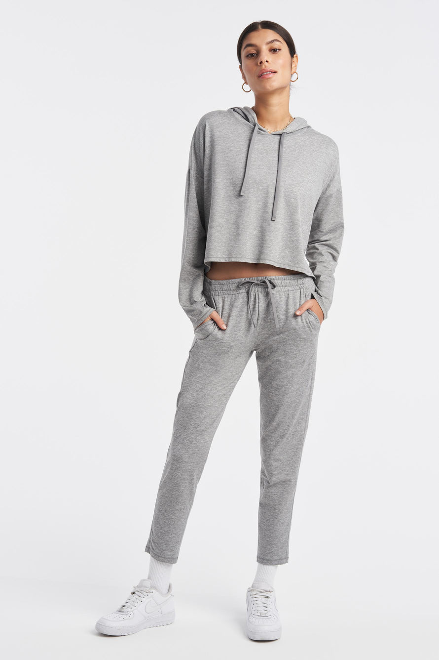 Zen Hoodie by We Over Me in Light Grey Spacedye 2