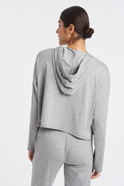 Zen Hoodie by We Over Me in Light Grey Spacedye 4