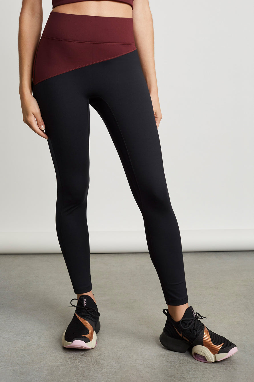 Top Blocked Legging by A.L.C. x BANDIER in Plum/black 1